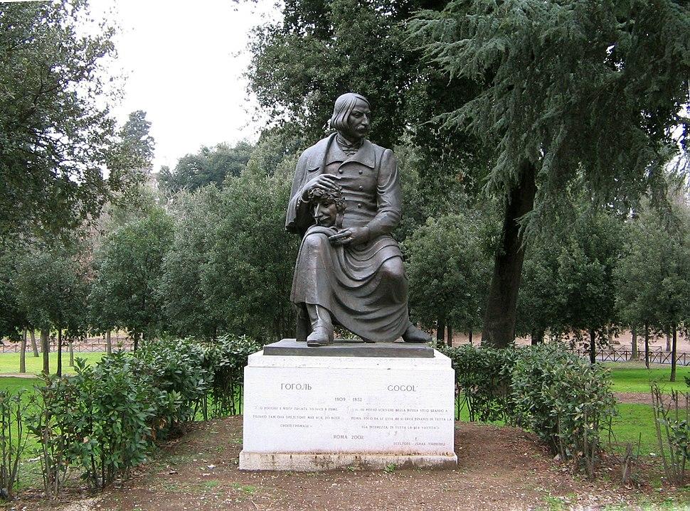 Monumento di Nikolay Gogol (Villa Borghese, Roma, Italia)