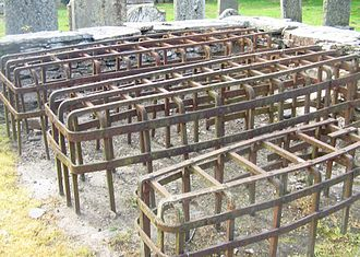 Grave robbery - Mortsafes at Logeriat Church in Perthshire, Scotland