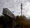Motorway sign gantry and telecoms tower - geograph.org.uk - 567267.jpg