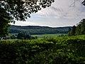 Motte Aspelsburg Trögen Turmburg Blick auf den Galgenberg Hardegsen.jpg
