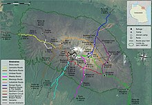 Mount Kilimanjaro Climbing Routes and Huts photomap-fr.jpg