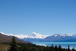 Horisonten til Aoraki/Mount Cook National Park