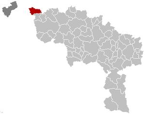 Mouscron - Image: Mouscron Hainaut Belgium Map