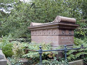 Ellen Wood (author) - Mrs Henry Wood's tomb, Highgate Cemetery