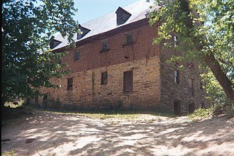 Tamworth, Virginia - Image: Muddy Creek Mill from East