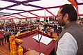Mukhtar Abbas Naqvi addressing at the Progress Panchayat at Rajkiya Kanya Inter College, in Jaspur, Udham Singh Nagar, Uttarakhand.jpg