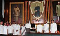 Mukul Wasnik, the Union Minister for Labour and Employment, Shri Mallikarjun Kharge, the Chairman, BJP Parliamentary Party Shri L.K. Advani, the Minister of State for Parliamentary Affairs.jpg