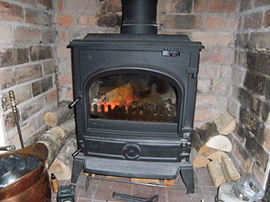 English: a multifuel stove