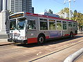 Muni bus no. 8424 in service as F Market during SF Fleet Week 2008.JPG