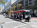 Muni route 9 bus at Market and 5th Street, September 2018.JPG