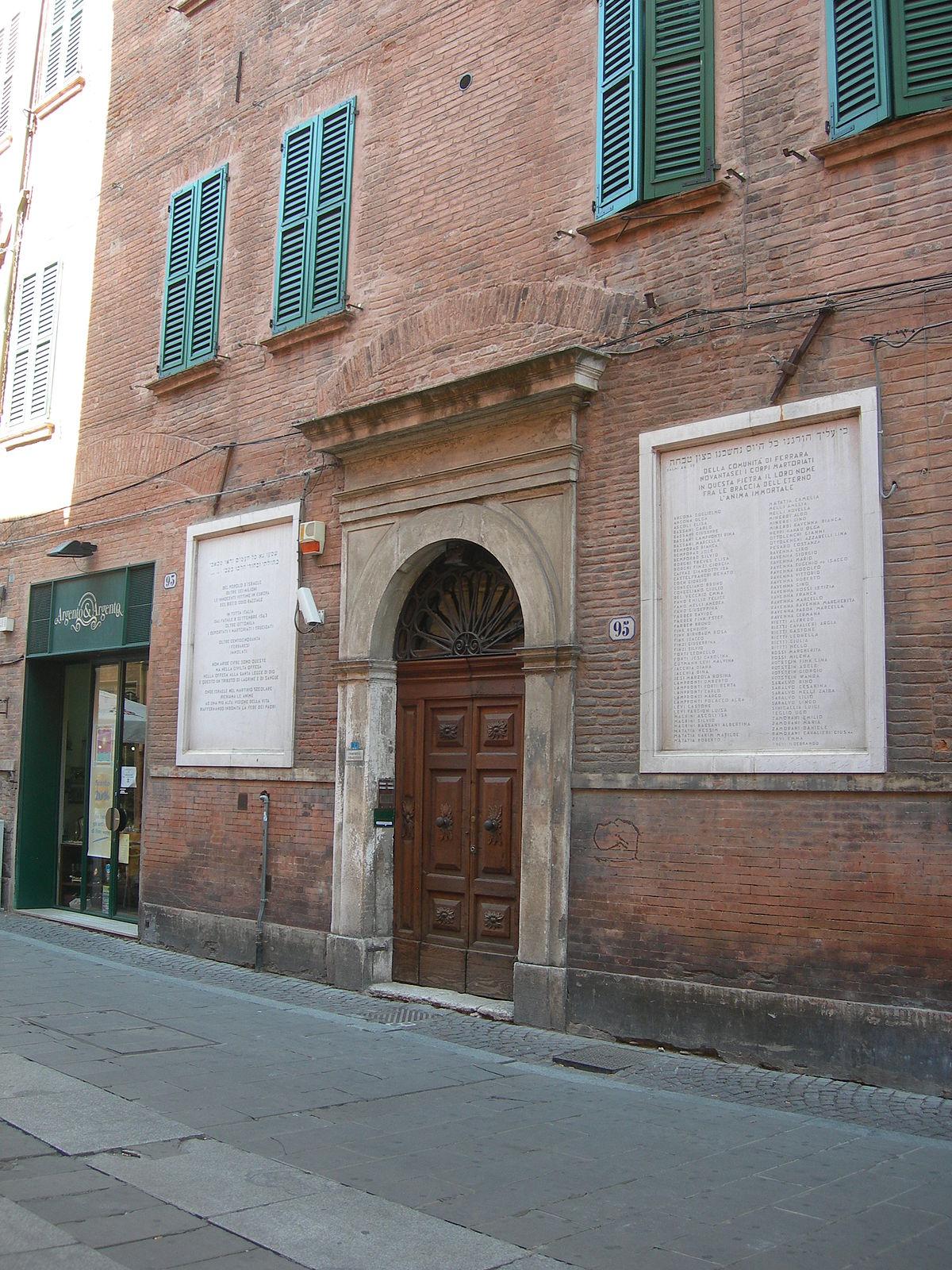 Ferrara Synagogue Wikipedia