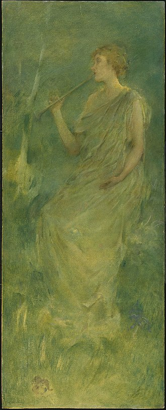 Aestheticism - Music by Thomas Dewing, ca. 1896- 1900. Brooklyn Museum