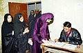 Muslim women at a Polling booth to cast their votes in a Polling Station during Assembly Elections of Delhi on December 1, 2003 (Monday).jpg