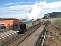 Nº34081 92 SQUADRON arriving at Weybourne Station - geograph.org.uk - 749016.jpg