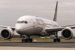N45905 United Airlines Boeing 787-8 Dreamliner on taxiway coming in from Houston (IAH) @ Frankfurt Rhein-Main International (FRA).jpg