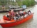 NDRF team shifting school children during Cyclone Aila.JPG