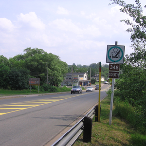 Nova Scotia Route 348 - Nova Scotia Route 348 in Trenton. It is known as Main Street in this town.
