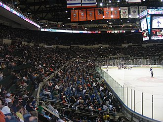 Nassau Veterans Memorial Coliseum - View of the Coliseum's seating during an Islanders game