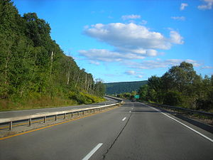 New York State Route 352 - NY 352 proceeding through the town of Corning as a four-lane boulevard