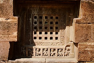 Nachna Hindu temples - Perforated stone window at Parvati Temple