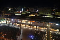 Nagano Station Zenkoji side in Night.jpg