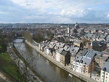 Il fiume Sambre attraversa il centro di Namur