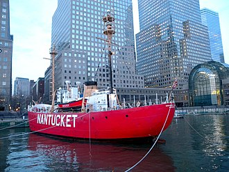 Lightship Nantucket - WLV-612 at World Financial Center
