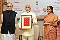 Narendra Modi launches the Gold schemes, in New Delhi. The Union Minister for Finance, Corporate Affairs and Information & Broadcasting.jpg