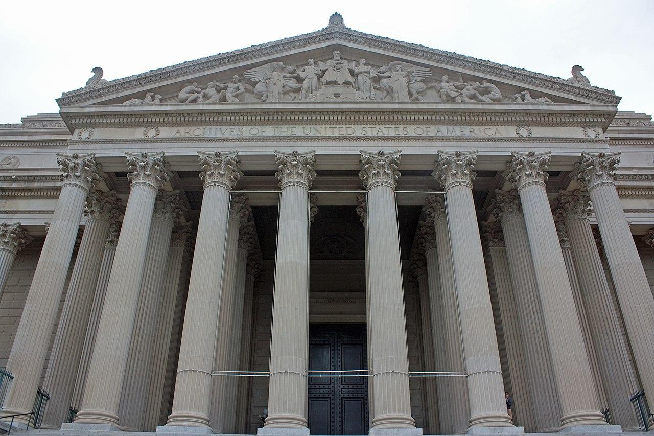 File National Archives Building South Side Washington D