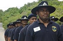 Nauru-Foreign relations-Nauru cadet police on training exercise (2)