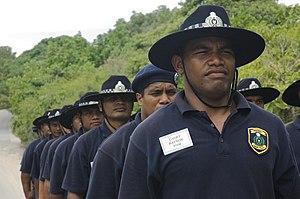Nauru cadet police on training exercise (2)