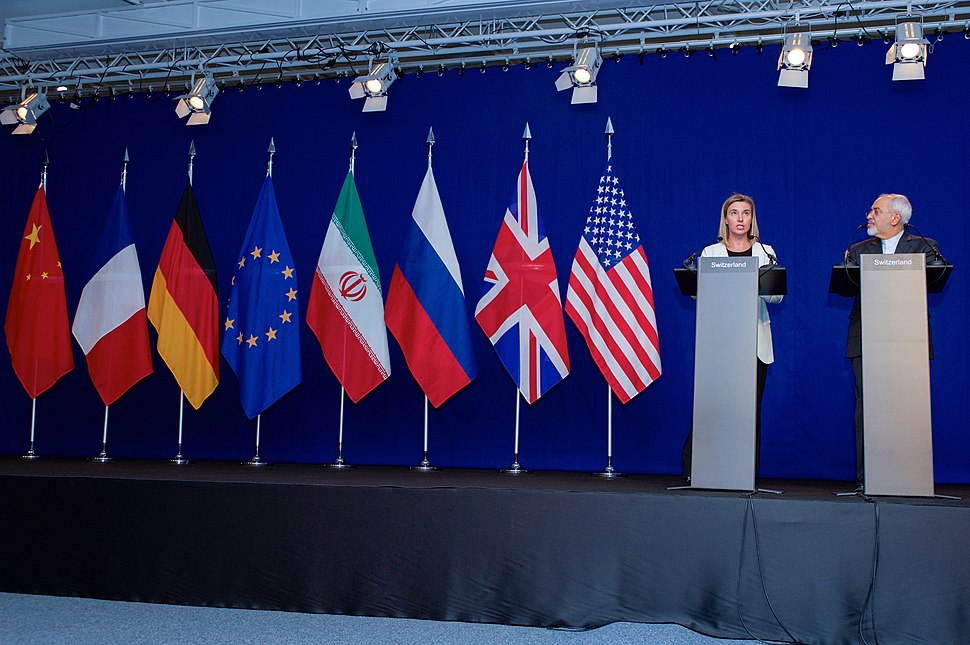 Negotiations about Iranian Nuclear Program - EU High Representative Mogherini and Iranian Foreign Minister Zarif Address Reporters in Lausanne