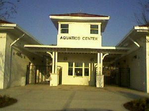 Haines City, Florida - The new Aquatics Center in the park.