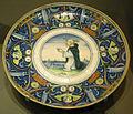 Ngv, maiolica di casteldurante, piatto con san pietro martire, 1525-30.JPG