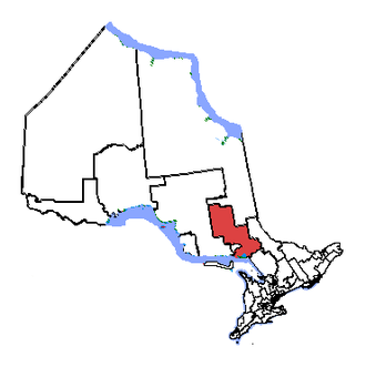 Nickel Belt - Nickel Belt in relation to other Ontario electoral districts