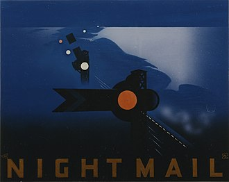 Night Mail - The film poster was designed by Pat Keely