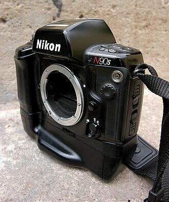 Nikon F90 - The Nikon N90s body with MB10 battery grip