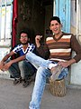 Nishapuri Boys - sited front of their store - Near Bibi Shatita Mosque 1.JPG