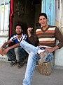 Nishapuri Boys - sited front of their store - Near Bibi Shatita Mosque 1.JPG