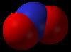 Spacefill-modelo de nitrogendioksido
