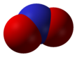 Spacefill model o nitrogen dioxide