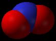 Spacefill model of nitrogen dioxide