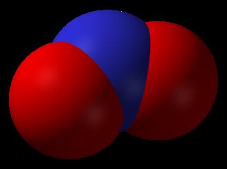 Nitrogen oxide - Image: Nitrogen dioxide 3D vd W