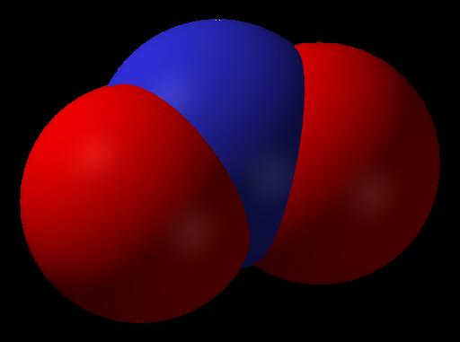 Nitrogen-dioxide-3D-vdW