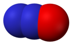 Nitrous oxide - space-filling model