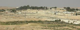 Nitzana, Israel - Nitzana viewed from the south.