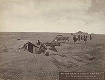 No. 56. The Buffalo Hunters' Home at Sheridan, Kas. (5568848867).jpg