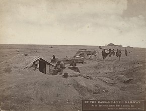 No. 56. The Buffalo Hunters' Home at Sheridan, Kas. (5568848867).jpg