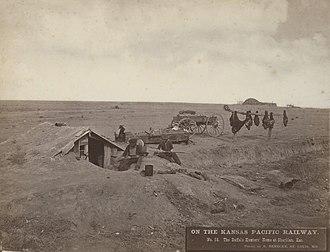 Sheridan County, Kansas - Image: No. 56. The Buffalo Hunters' Home at Sheridan, Kas. (5568848867)