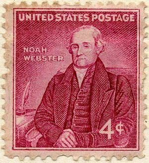 Image of the Noah Webster postage stamp, 4 cen...